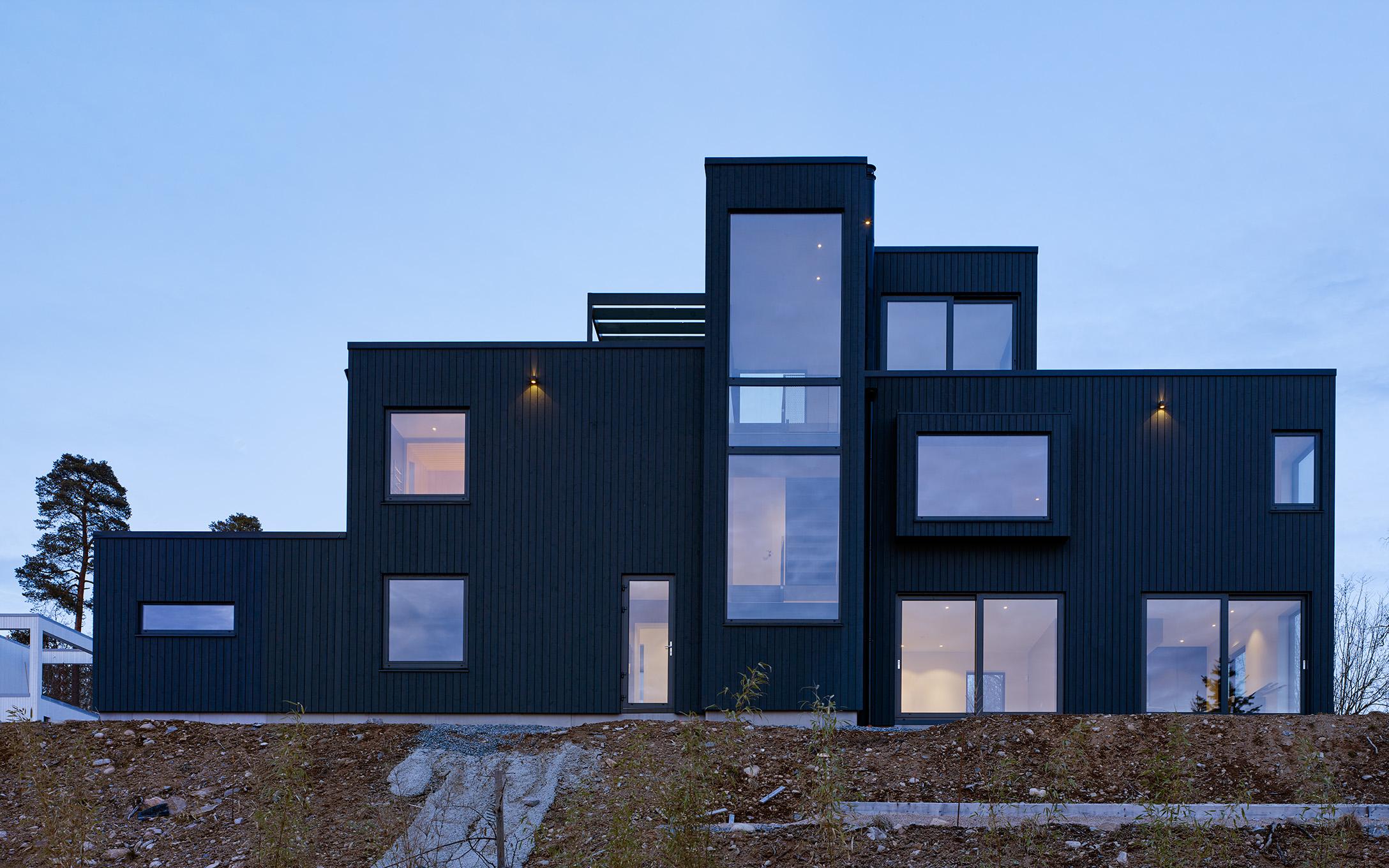 Vila Mondrian ritat av Åberg arkitektkontor uppdrag för BoArt